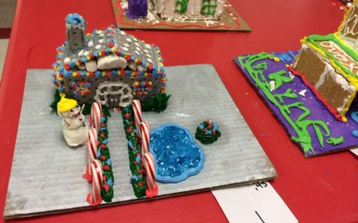 Mrs. Cobb's FACS class made gingerbread houses. The houses were judged by staff and students with monetary donations benefitting the annual canned food drive.